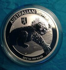 $1 DOLLAR AUSTRALIAN 2012 KOALA 1 OZ SILVER 999% BERLIN PRIVY MARK!����