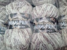 JAMES C BRETT CHENILLE ANIMAL PRINT SUPER CHUNKY KNITTING WOOL 2X100G YARN AP1