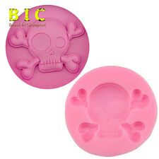 Halloween Skull 3D silicone fondant decorating tools moulds DIY Cake mold H3025