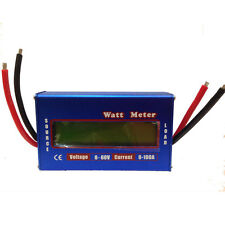 Digital LCD Watt Meter Battery Balance 60V100A DC RC Volt Ammeter Amp Analyzer