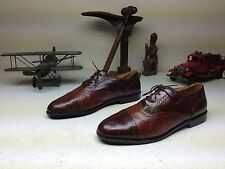 STANLEY BLACKER TWO TONE BROWN CAP TOE OXFORD LACE UP SHOES 13 M