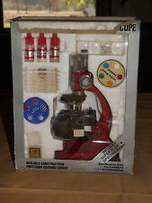 VINTAGE OLD TOY 1984 TASCO 750 POWER MICROSCOPE with DISCOVERY KIT