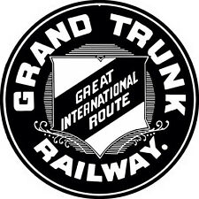 Grand Trunk Great International Route Railway Sign