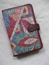 KNIGHTSBRIDGE 80'S FABRIC BURGUNDY LEATHER STANDARD PERSONAL FILE ORGANISER NEW