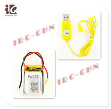 COMBO 3.7V LI-PO BATTERY  + USB CHARGER CABLE SYMA S800G RC HELICOPTER S800G-22