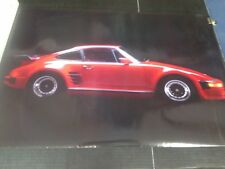 1986 Western Graphics red Porsche Carrera vintage wall poster NOS PBX2706