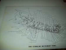 1966 Ford Econoline Wiring Wireing Diagram 11X17 oversized copies!!!
