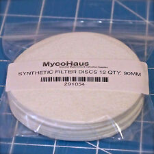 12 synthetic filter discs mushroom cultivation growing 90mm fit wide mouth jars