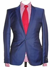 BNWT MENS TED BAKER BLUE SLIM FIT PASHION TAILOR-MADE SUIT 38R W32