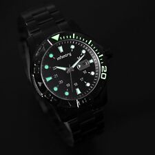 INFANTRY Mens Quartz Army Wrist Watch Night Vision Dial Date Stainless Steel