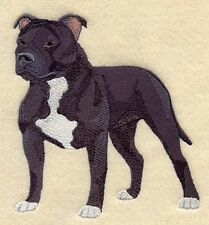 Embroidered Long-Sleeved T-shirt - Staffordshire Bull Terrier C4894 S - XXL