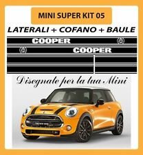 MINI ONE, COOPER, COOPER S ADESIVI SUPER KIT 05 COFANO + LATERALI + BAULE