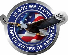 "1088 ProSticker (One) 4"" In God We Trust United States of America Decal Sticker"