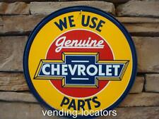 Genuine Chevrolet Parts Bowtie Round Metal Tin Sign Garage Man Cave Chevy New
