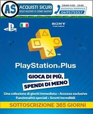 PSN PLUS 12 MESI ABBONAMENTO ANNUALE PSN PLUS 12 MESI PS4 PS3 PSVITA
