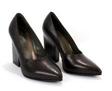 Gibellieri LP36 Eggplant Leather Geometric Heel Pumps 36.5 / US 6.5