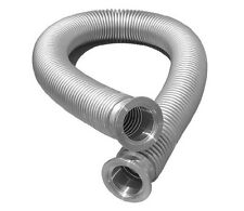 KF-50 Flexible Hose Stainless steel 500mm Vacuum Corrugated Pipe Tube t