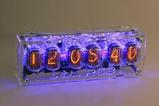 Nixie Clock IN-12  Six Digit Tubes Tube Clock with case remote RGB-Leds IN12