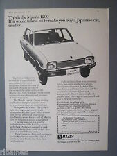 R&L Ex-Mag Advert: Maxda 1200 Sedan, Japanese Technology, Car