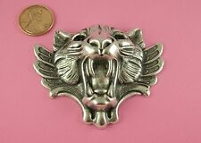 ANT SILVER PLATED BRASS ROARING TIGER'S HEAD - 1 PC(s)