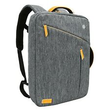 Laptop Briefcase Backpack Evecase Water Resistant Convertible Laptop Canvas B...