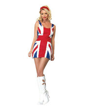 Adult British Flag Dress Sexy Spice Costume Ginger Girls Movie Fancy Dress Party