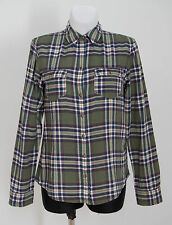 WOMENS ABERCROMBIE&FITCH SHIRT LONG SLEEVED GREEN CHECKED SIZE M MEDIUM VGC