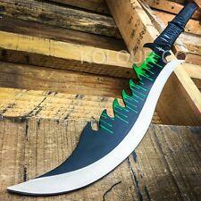 "28"" TACTICAL SURVIVAL Fixed Blade ZOMBIE MACHETE Hunting Sword Full Tang Knife"