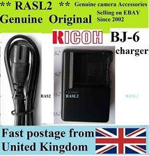Genuine Original  RICOH BJ-6 Charger DB-60 DB-65 Caplio R3 R4 R5 GX100 GX200