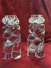 "FLAWLESS Exceptional Pair BACCARAT Crystal ""Aladin"" CANDLESTICK CANDLE HOLDERS"