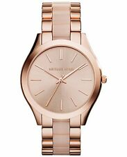 MICHAEL KORS MK4294 SLIM RUNWAY ROSE GOLD & BLUSH WOMEN'S WATCH