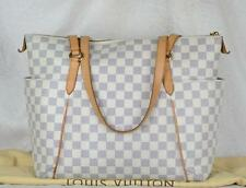 MPRS Auth LOUIS VUITTON Monogram canvas Totally MM Tote bag (White)
