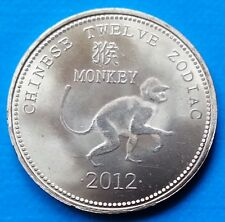 Somaliland Monkey 10 shillings 2012 UNC Zodiac Chinese Astrology unusual coin