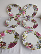 6x Speiseteller Limoges Victoria Bill Goldsmith Floral 1986 dinner plates TOP