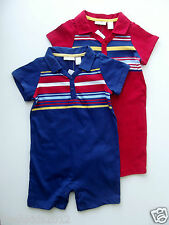 "First Impressions ""LOT"" Baby Boy BLUE or RED Sunsuit sz 18 Mos NWT B5389 19 item"