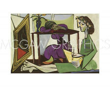 "PICASSO PABLO - INTERIOR WITH A GIRL DRAWING - Artwork Reproduct 11"" x 14"" (491)"