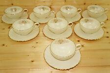 """Lenox Orleans D515 Set of (8) Cups, 2 1/8"""" & (8) Saucers, 6 1/4"""""""