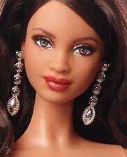 Barbie Jewelry Model Muse Holiday Doll Metallic Silver Earrings Accessory Only