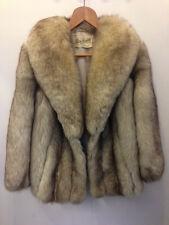 Phillip Hockley London Mayfair Natural Top Blue Fox Fur jacket Uk 14 harrods