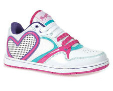 New Girls Kids Pineapple Lowtop Lace up Casual Trainer Running Shoe Size 13-5