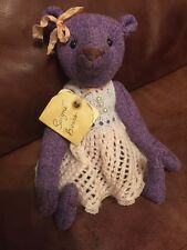 Primitive Tweed Artist Bear By Soigné Bears 'Lavande' OOAK Hand Sewn