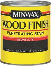 NEW MINWAX 22718 EBONY INTERIOR OIL BASED WOOD FINISH STAIN 7996069