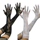 Women Sexy Ladies Stretch Lace Opear/Long Length Gloves Black White Red 3 Colors