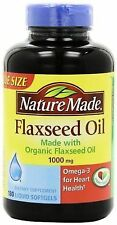 Nature Made Flaxseed Oil 1000 mg Softgels 100 Soft Gels Exp 07/2018