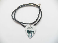 """LINKIN PARK guitar pick plectrum braided twist LEATHER NECKLACE 20"""" CHESTER"""