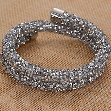 Silver double crystaldust bracelets and bangle crystal stardust bracelets