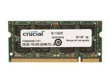 Crucial PC2-6400 2 GB SO-DIMM 800 MHz DDR2 SDRAM Memory (CT25664AC800)