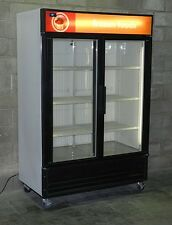 Used Two Glass Door Display Freezer Merchandiser