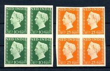 NED INDIE 1948 # 345/46  IMPERF PROOF 4 x -CERTIFICAAT-NO GUM AS ISD MOST VF @4