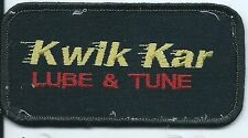 Kwik Kar Lube & Tune employee patch 2 X 4 Dallas TX